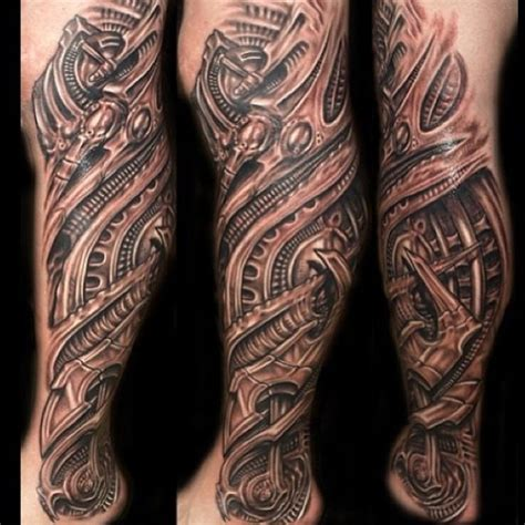 biomechanical tattoo leg sleeve original biomechanical tattoo biomechanical leg tattoo