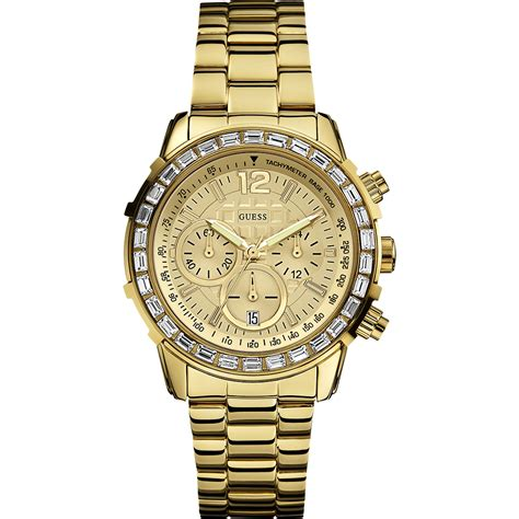 guess w0016l2 horloge b chrono gold