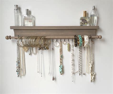 Jewelry Shelf Organizer by Jewelry Organizer Hanging Jewelry Shelf By Timberridgeshop
