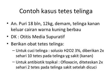 Obat Tetes Telinga H2 O2 Tentir Menulis Resep Fkui2007