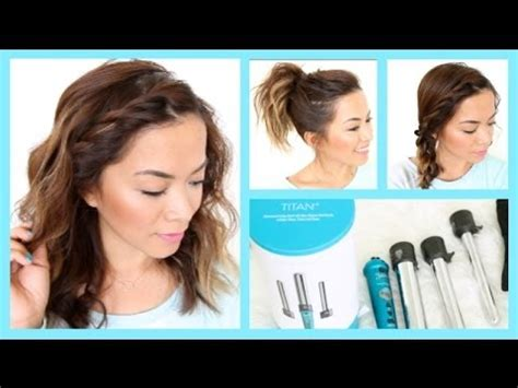 easy hairstyles for short hair youtube 3 easy summer hairstyles for short hair thatsheart youtube