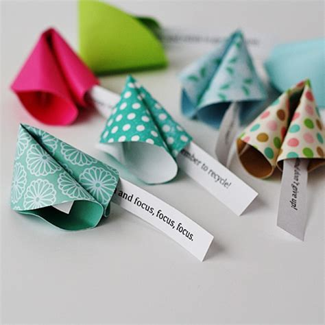 Paper Fortune Cookies - new year s fortune cookies diy