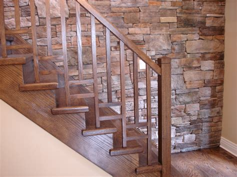 Stairs Wooden Railing by Modern Wood Stair Railing Viewing Gallery