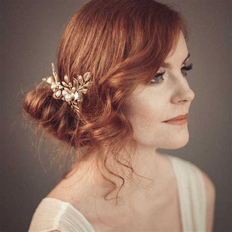 Haarschmuck Braut by Braut Haarschmuck Perlen Blumen Gold Kopfschmuck Perlen