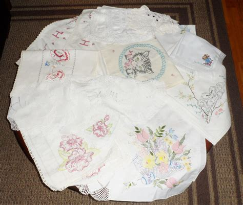 Dresser Scarves And Doilies by 25 Pc Lot Vtg Estate Embroidered Crochet Linens Doilies