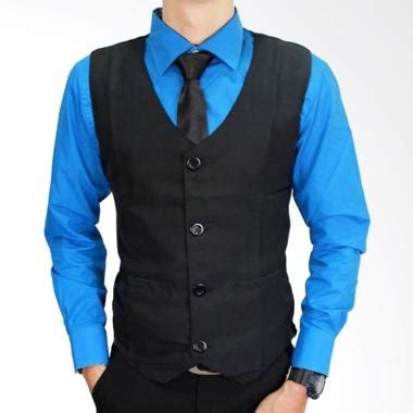 Vest Formal Rompi Formal jual gudang fashion formal vest rom 385 black rompi pria