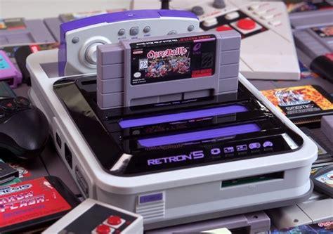 retro console retron 5 nes gameboy advance sega mega drive snes