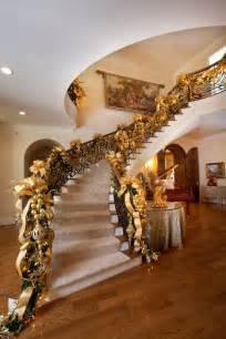 Christmas Garland For Banister Gold With Sparkles A Magical Christmas Theme