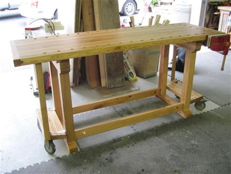 bench on casters wooden work bench on wheels woodproject