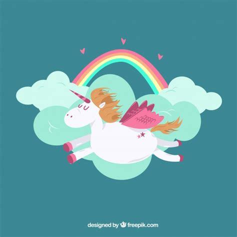 imagenes de unicornios y arcoiris fondo de nubes y arcoiris con unicornio volando