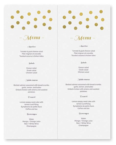 printable menu template free printable templates search results