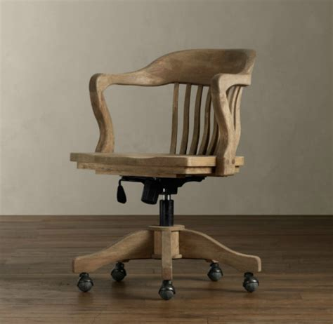 Antique Office Furniture by Antique Wooden Desk Chair On Wheels Antique Furniture