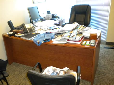 Cluttered Desk by Dear Office Slacker A Topnotch Site