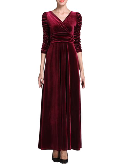 solid color dresses solid color v neck ruffled velvet prom dress azbro