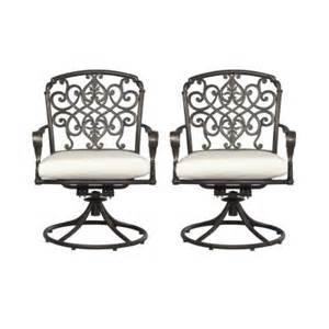 Hton Bay Swivel Patio Chairs Hton Bay Edington Swivel Patio Dining Chair With Bare Cushion 2 Pack 131 012 Sr2 Nf The