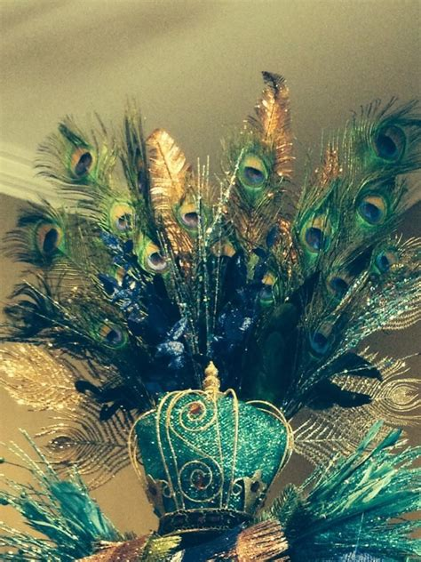 peacock christmas tree topper christmas pinterest