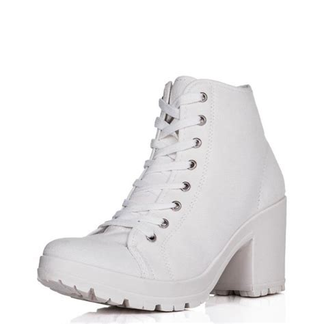 buy jak heeled cleated sole platform ankle boots white