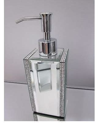 Rhinestone Bathroom Accessories Savings On Mirror Rhinestone Soap Lotion Dispenser Bathroom Accessory
