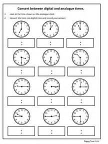 clock template ks2 convert analogue to digital time worksheet ks2 maths by