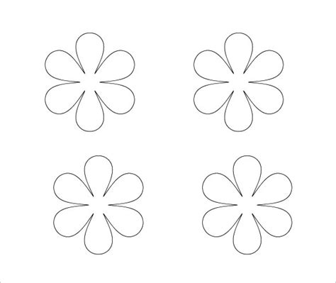 6 Petal Flower Template by Flower Petal Template 27 Free Word Pdf Documents