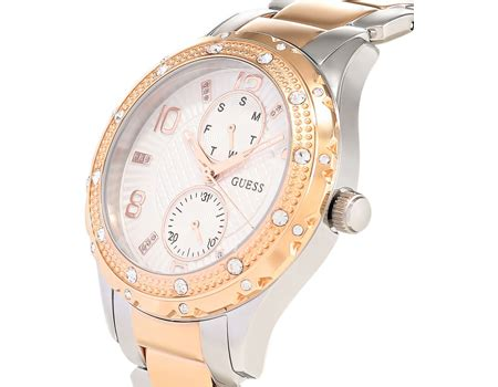 Guess W0442l4 guess for casual stainless steel band