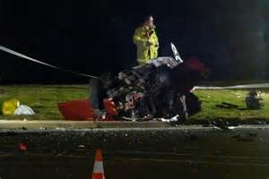 canberra car crash driver killed in three car had attempted to evade