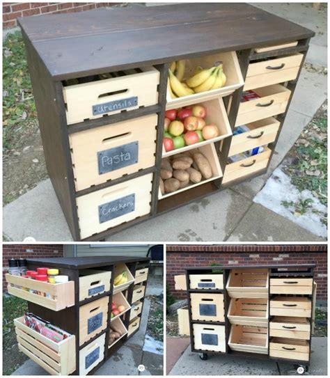 Kitchen Pantry Plans Free by Diy Kitchen Island With Pantry Storage Free Plan
