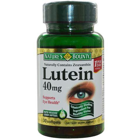 nature s bounty lutein 40 mg 30 softgels iherb