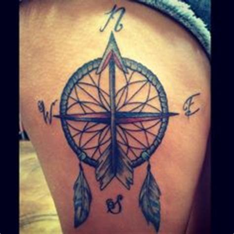 dreamcatcher compass tattoo neck 1000 images about ink on pinterest skulls and roses