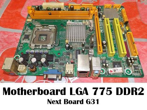 motherboard lga 775 next board g31 toko mutiara computer