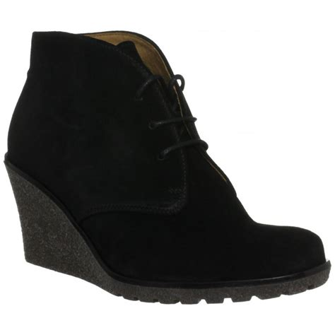 gabor elen 51 680 17 black suede wedge ankle boot gabor