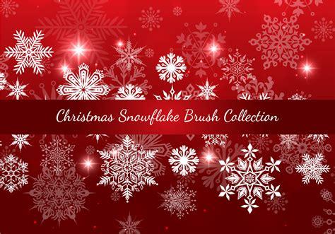 pattern photoshop noel christmas snowflake brush collection free photoshop