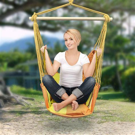 sorbus blue hanging rope hammock chair swing sorbus blue hanging rope chair porch swing seat patio