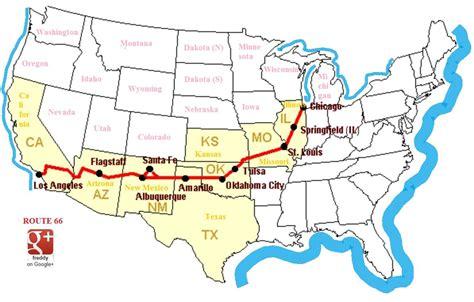 united states highway map route 66 troller avec ou sans troll la route 66