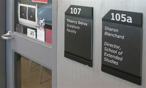 Office Signage by Wayfinding Signage Nscad By Steven Slipp Design
