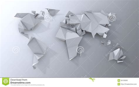 World Origami - origami continents scrapbooking stock photos image