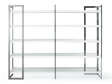 stainless steel bookcase dipsy by gallotti radice design