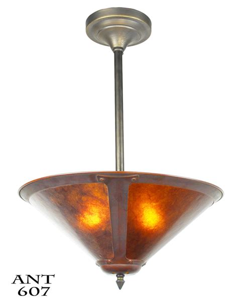 Mission Style Ceiling Light Fixtures Vintage Hardware Lighting