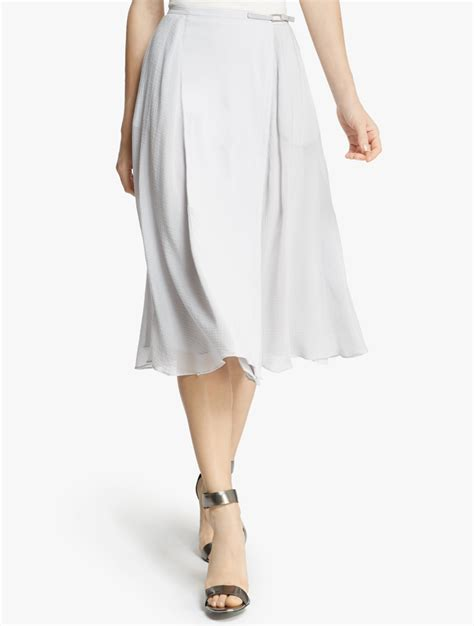 midi flowy skirt in gray lyst