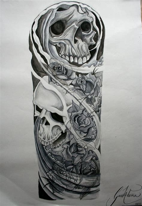 skull half sleeve tattoo designs sleeve tattoos best tattoos for tatueringar