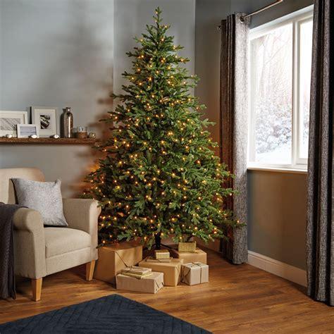 b q diy store pre lit trees 7ft 6in thetford pre lit led tree departments diy at b q