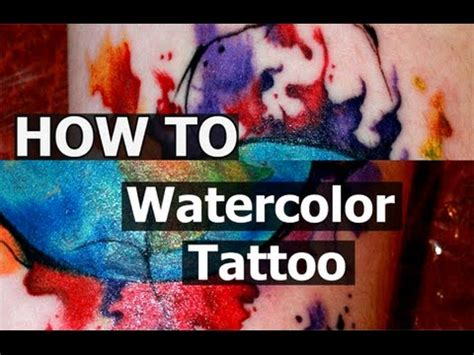watercolor tattoo process techniques watercolor quot time lapse quot process