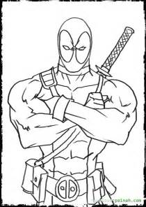 deadpool coloring book simple dead pool coloring pages