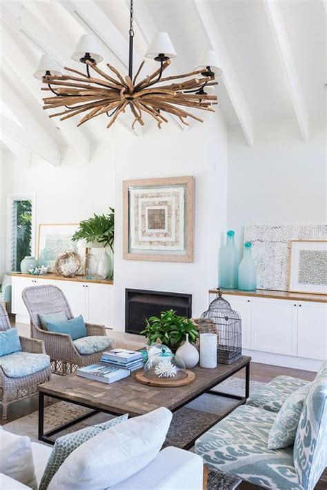 beach home interiors driftwood chandelier design and beaches on pinterest