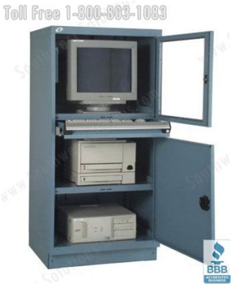 Computer Cabinet With Lock by Computer Workstations Benches Flat Screen Enclosures