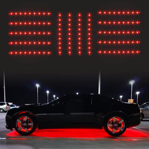 led glow lights for cars 14pc car truck underglow neon accent glow