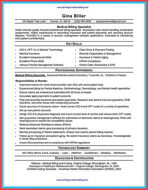 exles of healthcare resumes billing coordinator resume memo exle