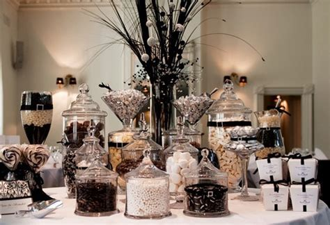 Black And White Buffet Buffet Stations At Weddings Just B Cause