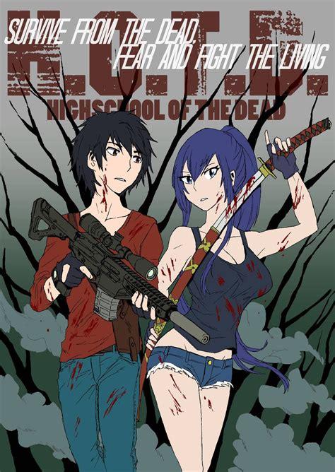 highschool of the dead season highschool of the dead season 2 fanfic poster by wftc141
