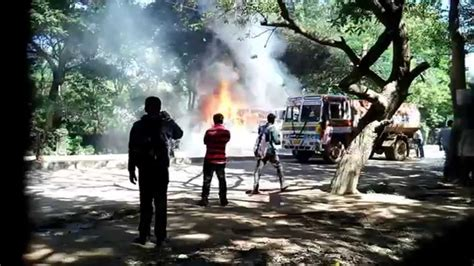youtube movietube on fire youtubeonfire november 2015 bus caught fire near itpl bangalore 25th nov 2015